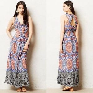 Anthropologie Maeve Medallion Cut Maxi Dress 12